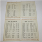 Lot 83 - 1954 Masters Thursday-Sunday Pairing Sheets