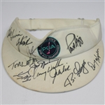 Lot 84 - Multi-Signed 1991 PGA at Crooked Stick Visor - Nicklaus, Watson, and others JSA ALOA