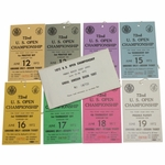Lot 85 - Complete Set of 1972 US Open at Pebble Beach Tickets - #08700 - Nicklaus Winner