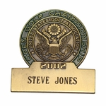Lot 87 - 2002 US Open at Bethpage Contestant Badge - Steve Jones Collection