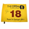 Lot 88 - 2011 Phil Mickelson Signed British Open Royal St. George Flag JSA COA