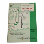 Lot 89 - 1961 Masters Tournament Spectator Guide - Gary Player Winner