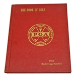 Lot 89 - 1951 Ryder Cup Matches at Pinehurst Hard Cover Program - USA 9 1/2 - 2 1/2
