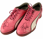 Lot 9 - Rickie Fowler Signed Pair of PUMA Pro-Sample Smart Quill Shoes