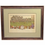 Lot 9 - Bobby Jones Signed 1930 Currier & Ives British Open@St. Andrews - RARE