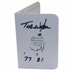 Lot 91 - Tom Watson Signed Augusta National Scorecard with Winning Years Inscription