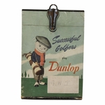 Lot 92 - 'Successful Golfers Play Dunlop' 1930's Advertising Piece Depicting Dunlop Caddie