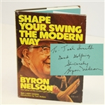 Lot 94 - Byron Nelson Signed Book 'Shape Your Swing the Modern Way' JSA ALOA