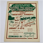 Lot 97 - 1948 National Pro-Amateur Championship Program - Lloyd Mangrum Winner