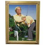 Lot 98 - Jack Nicklaus Signed Danny Day Artists' Proof 25/25 Giclee on Canvas Painting-Deluxe Frame