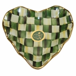 Lot 98 - Masters Checkered Heart Shaped Cocktail Plate- MacKenzie-Childs Exclusive