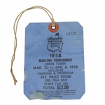Lot 79 - 1958 Masters Tournament Series Ticket #5457 - Palmer's 1st Masters Victory