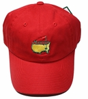 Masters Caddy Slouch Hat - Red