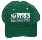 Masters Green Straight Line Caddy Hat