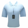 Masters Jersey Golf Shirt - Light Blue With Pink and White - XL & XXL ONLY!