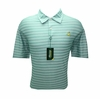 Masters Pique Golf Shirt- Fairway Green and White Stripes - Large & XL ONLY!