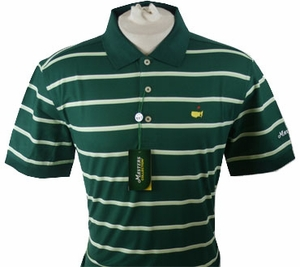 Masters Pique Golf Shirt - Green/Lime/White