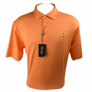 Masters Tech Golf Shirt - Orange Striped