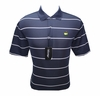 Masters Tech Golf Shirt - Peacot Blue w/White Stripes - Medium through XXL BEST SELLER!