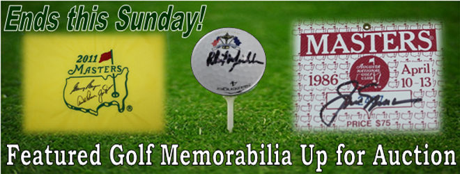 golf memorabilia auction