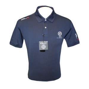 The 144th British Open Logo St Andrews RLX Golf Polo - French Navy