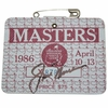 Lot 409 - 1986 Masters Badge Signed by Jack Nicklaus JSA COA