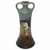 Lot 11 -Weller Pottery Vase - Dickens Ware Male Golfer Rare!