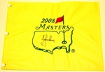 Trevor Immelman signed 2008 MASTERS Pin Flag ONLY 2! BUY NOW!