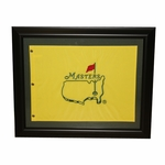 Undated Embroidered Masters Pin Flag - Framed