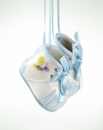 Baby Boy Bootie Ornament