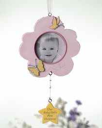 Baby Girl Hanging Ornament