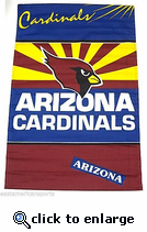 Arizona Cardinals Deluxe Wall Hanging NFL Banner 29x45