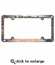 Baltimore Orioles License Plate Frame