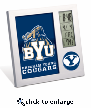 Brigham Young Cougars Digital Desk Clock