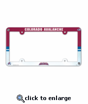 Colorado Avalanche License Plate Frame