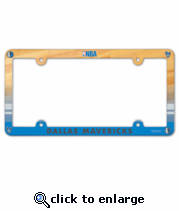 Dallas Mavericks License Plate Frame