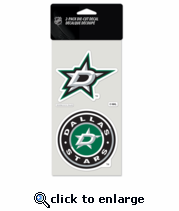 Dallas Stars Decal 4x4 2pk