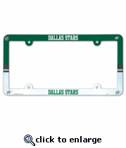 Dallas Stars License Plate Frame