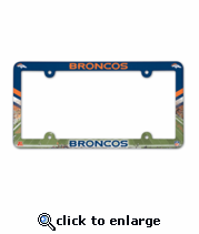 Denver Broncos License Plate Frame