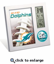 Miami Dolphins Desk Top Clock