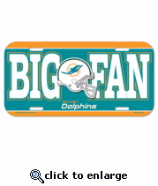 Miami Dolphins License Plate