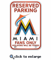 Miami Marlins Locker Room Sign
