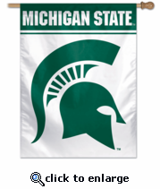 Michigan State Spartans College Flag