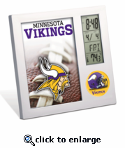 Minnesota Vikings Desk Clock