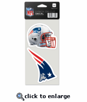 New England Patriots Decal 4x4 2pk