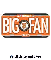 San Francisco Giants License Plate