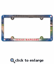 Texas Rangers License Plate Frame