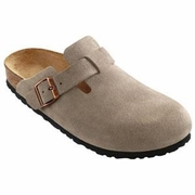 Birkenstock Boston High Arch Suede Leather Clog - Unisex - D-EE Width