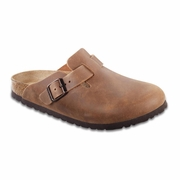 Birkenstock Boston Nubuck Leather Clog - Unisex - B-C Width