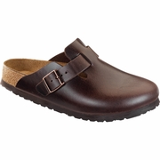 Birkenstock Boston Soft Footbed Amalfi Leather Clog - D/EE Width